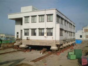 阿久根市民病院付属看護学校曳き移転工事