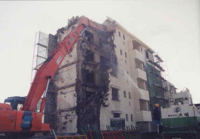 解体工事の様子1